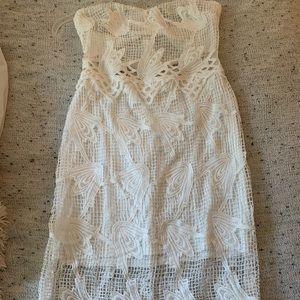 Charlotte Russe Dresses - White strapless dress